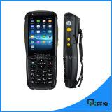 Varredor Android PDA Handheld do código de barras do laser 1d da tela de toque