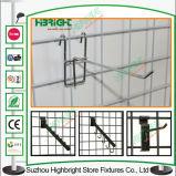 Металлические магазин дисплей висящих крюков сетки на стену крючок дисплея розничной торговли