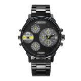 Reloj de acero de la pulsera del reloj de múltiples funciones de la manera para los hombres