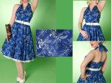 2014人の熱い販売法の青いデザインの凝った服の女性服