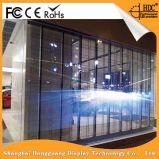 Quente-Vendendo a cor cheia P15.625, 3.91 transparentes/vidro/tela de indicador video diodo emissor de luz do indicador/cortina/parede para anunciar