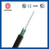 En el exterior del tubo de 2 núcleos centrales de cable de fibra óptica GYXTW por conducto de la antena de telecomunicaciones
