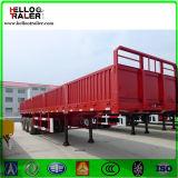 De 50 tonnes de Tri-Essieu de mur latéral de cargaison de camion remorque à plat semi à vendre