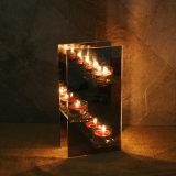 Sostenedor votivo de la luz del té del espejo de cristal