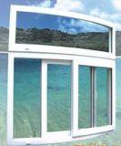 La alta calidad modificó hermético para requisitos particulares/insonoro curvada/Calor-Aísla la ventana de desplazamiento del PVC