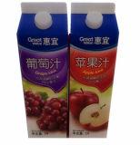 6 Jus de couche/lait/crème/vin/eau/yaourt Gable Top Carton avec des capuchons