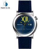 Moda simple movimiento suizo Watch Automatic reloj de pulsera para hombres