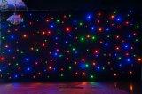Färbt neue feuerfeste Mischung 2017 vollen RGB-Stern-Vorhang, LED-Stern-Tuch, RGB-Mischungs-Farben-Stern-Hintergrund