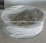 浴室のための普及した中国Juparanaの花こう岩の石の洗面器