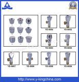 Válvula de ángulo Y-Rey alta calidad de latón cromado (YD-5017)