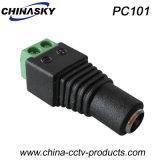 Weibchen CCTV-Spannungs-Verbinder mit Schrauben-Terminal, 2.1*5.5mm (PC101)