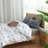 Weiche gedruckte Duvet-Deckel-Bett-Blatt-Bettwäsche stellte für Haus ein