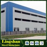 Capannone prefabbricato del magazzino della struttura del blocco per grafici d'acciaio di configurazione rapida