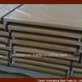 Edelstahl-Blatt mit Papierschutz