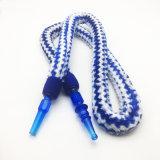 slang van de Waterpijp van het Ontwerp van het Bont van 1.8m de Blauwe Gestreepte met AcrylMondstuk (S-hh-006-4)