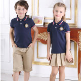 Camice di polo alla moda molli casuali dell'uniforme scolastico 100%Cotton