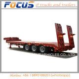 50tons de hydraulische Semi Aanhangwagen van de Vrachtwagen van het Platform Lowbed voor het Vervoer van het Graafwerktuig