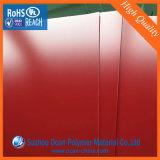 Лоснистый красный выбитый лист PVC для неподвижного