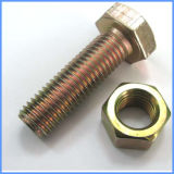 Zingué semi-fileté DIN931 DIN934 Hex Bolt