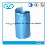 Sac de détritus remplaçable en plastique de chaîne de caractères d'attraction de LDPE de HDPE