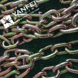 Yellow Zinc Plated Grade 70 Tie Down Chain com Gancho