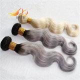 Capelli del Cambodian di estensione dei capelli di Ombre dei capelli di colore chiaro di tono dell'onda due del corpo