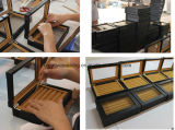 高品質のガラス窓は革カフスボタンボックスを卸し売りする