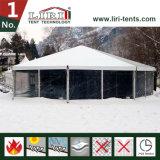 tentes hexagonales du bâti 6 de 15m pour 500 personnes pour diner extérieur de restauration