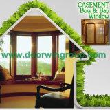 Finestra di alluminio della stoffa per tendine dello scantinato di legno di quercia, stoffa per tendine di legno Oaken rossa di alluminio Windows di durevolezza perfetta