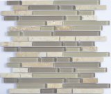 2017 mosaico mezclado de piedra y de cristal