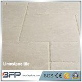 白い石灰岩の別荘のための磨かれた石灰岩のタイルの最もよい価格