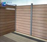 Compuesto de plástico de la madera y aluminio, sistema de valla valla WPC 161,5 x 20 mm