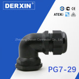 Glándula de cable del codo de la fuente del fabricante de los accesorios del cableado de Pg7-G29 China