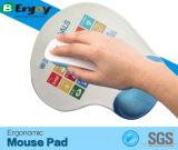 Tapete de rato ergonômico para gel de silicone impresso Descanso de pulso