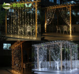 Luzes da corda da cortina do Natal do LED