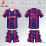 Uniforme Sublimated cheio original do futebol do futebol de Healong Jersey