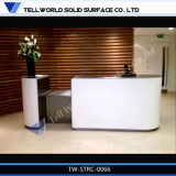 Contador superficial sólido de acrílico moderno del escritorio de recepción de los muebles de oficinas
