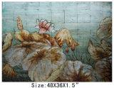 Handmade Feuille d'or de l'huile de Lotus peinture moderne (LH-700550)