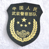 Custom militare Logo Embroidery Badge con Hot Melt Adhesive