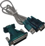 Macho USB a RS232 COM el puerto Serial dB9 9p Terminal de cable adaptador de depuración
