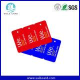 Hecho en tarjeta especial plástica al por mayor de la dimensión de una variable de China