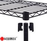 Простая сборка 5 уровней черного эпоксидным покрытием металлические домашняя кухня деятельность фирм хлебопекарной полки для установки в стойку для хранения