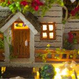 2018 het gelukkige Huis van Doll van de Gift DIY van het Nieuwjaar Houten