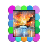 Logotipo em 3D em PVC maleável Photo Frame com íman