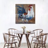 Home DecorのためのハンドメイドのRooster Oil Paintings