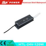 24V 5A는 세륨 RoHS Htl 시리즈를 가진 LED 전력 공급을 방수 처리한다