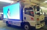 HOWO 6 Rad-im Freienmobile LED-Bildschirmanzeige-LKW 5 T, die Fahrzeug bekanntmacht