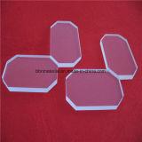 Plaque de verre de quartz 79x50x7mm avec coin coupé