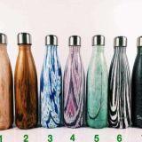 A garrafa de vácuo do Thermos dos copos do inchamento do aço inoxidável da qualidade dos frascos do curso dos esportes de água da cola ajusta o presente da promoção
