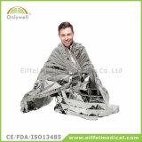Thermische silberne Emergency Rettungs-Wegwerfzudecke für das Halten warm